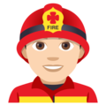 Man Firefighter: Light Skin Tone on JoyPixels 4.5