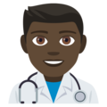 Man Health Worker: Dark Skin Tone on EmojiOne 4.5
