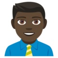 Man Office Worker: Dark Skin Tone on JoyPixels 4.5