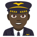 Man Pilot: Dark Skin Tone on EmojiOne 4.5