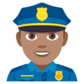 Man Police Officer: Medium Skin Tone on JoyPixels 4.5