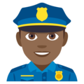 Man Police Officer: Medium-Dark Skin Tone on JoyPixels 4.5