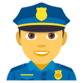 Man Police Officer on EmojiOne 4.5