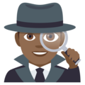 Man Detective: Medium-Dark Skin Tone on EmojiOne 4.5