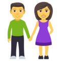 Woman and Man Holding Hands on EmojiOne 4.5