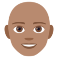 Man: Medium Skin Tone, Bald on EmojiOne 4.5