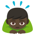Man Bowing: Dark Skin Tone on EmojiOne 4.5