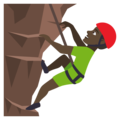 Man Climbing: Dark Skin Tone on JoyPixels 4.5