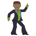 Man Dancing: Medium-Dark Skin Tone on EmojiOne 4.5