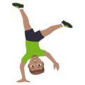 Man Cartwheeling: Medium Skin Tone on JoyPixels 4.5