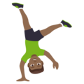 Man Cartwheeling: Medium-Dark Skin Tone on JoyPixels 4.5