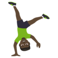 Man Cartwheeling: Dark Skin Tone on JoyPixels 4.5