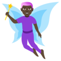 Man Fairy: Dark Skin Tone on EmojiOne 4.5