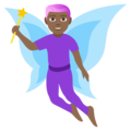 Man Fairy: Medium-Dark Skin Tone on EmojiOne 4.5