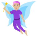 Man Fairy: Medium-Light Skin Tone on EmojiOne 4.5