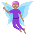 Man Fairy: Medium Skin Tone on EmojiOne 4.5