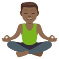 Man in Lotus Position: Medium-Dark Skin Tone on EmojiOne 4.5