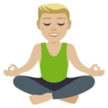 Man in Lotus Position: Medium-Light Skin Tone on EmojiOne 4.5