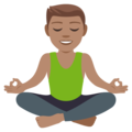 Man in Lotus Position: Medium Skin Tone on EmojiOne 4.5