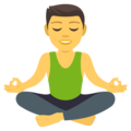 Man in Lotus Position on EmojiOne 4.5