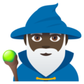 Man Mage: Dark Skin Tone on EmojiOne 4.5