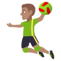 Man Playing Handball: Medium Skin Tone on EmojiOne 4.5