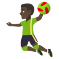 Man Playing Handball: Dark Skin Tone on JoyPixels 4.5