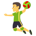 Man Playing Handball on JoyPixels 4.5