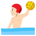 Man Playing Water Polo: Light Skin Tone on JoyPixels 4.5