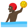 Man Playing Water Polo: Dark Skin Tone on JoyPixels 4.5