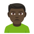Man Pouting: Dark Skin Tone on EmojiOne 4.5