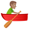Man Rowing Boat: Medium Skin Tone on JoyPixels 4.5