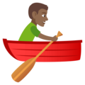 Man Rowing Boat: Medium-Dark Skin Tone on JoyPixels 4.5