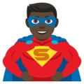 Man Superhero: Dark Skin Tone on EmojiOne 4.5