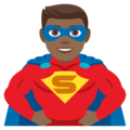 Man Superhero: Medium-Dark Skin Tone on JoyPixels 4.5