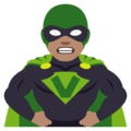 Man Supervillain: Medium Skin Tone on EmojiOne 4.5