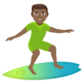 Man Surfing: Medium-Dark Skin Tone on EmojiOne 4.5