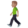 Man Walking: Medium Skin Tone on EmojiOne 4.5