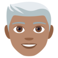 Man: Medium Skin Tone, White Hair on JoyPixels 4.5