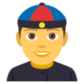 Man With Chinese Cap on EmojiOne 4.5