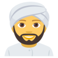 Person Wearing Turban on EmojiOne 4.5