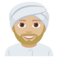 Person Wearing Turban: Medium-Light Skin Tone on EmojiOne 4.5