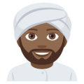 Person Wearing Turban: Medium-Dark Skin Tone on JoyPixels 4.5