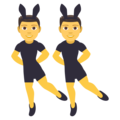Men With Bunny Ears on JoyPixels 4.5