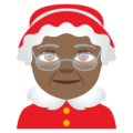 Mrs. Claus: Medium-Dark Skin Tone on EmojiOne 4.5