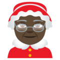 Mrs. Claus: Dark Skin Tone on EmojiOne 4.5
