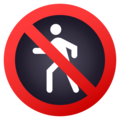 No Pedestrians on EmojiOne 4.5