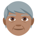Older Person: Medium Skin Tone on EmojiOne 4.5
