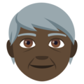 Older Person: Dark Skin Tone on EmojiOne 4.5