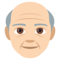 Old Man: Light Skin Tone on EmojiOne 4.5